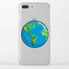 Earth Icon Clear iPhone Case