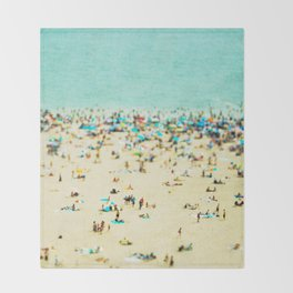 Coney Island Beach Throw Blanket
