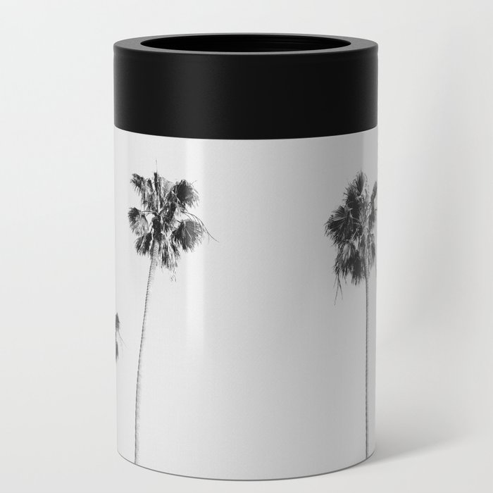 Black & White Palms Can Cooler