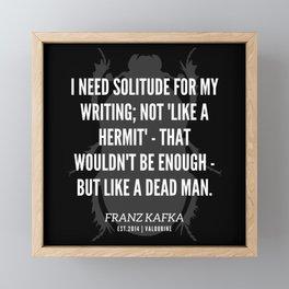32  |  Franz Kafka Quotes | 190517 Framed Mini Art Print