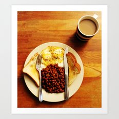 Beans and Eggs Art Print