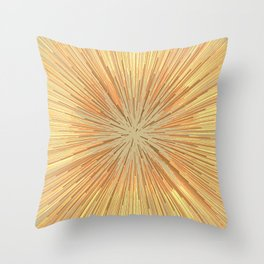 Burst (ochre) Throw Pillow