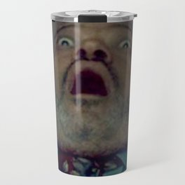 Scared Face Laurence Fishburn Travel Mug