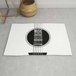 Lab No. 4 - Plato philosopher Inspirational Music Quotes  poster Rug
