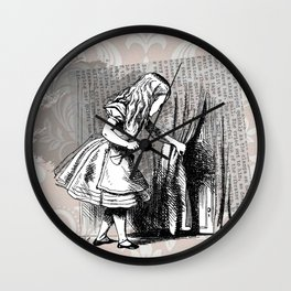 Alice and the Door Wall Clock