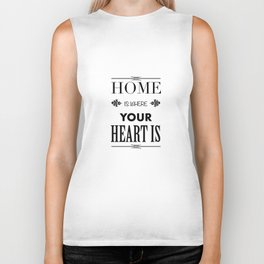 Your Heart is - Typography Biker Tank