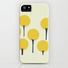 Yellow Pop Trees iPhone Case