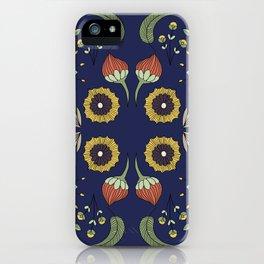Flora Pattern I Dark iPhone Case