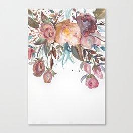 Floral Watercolor #1 Canvas Print