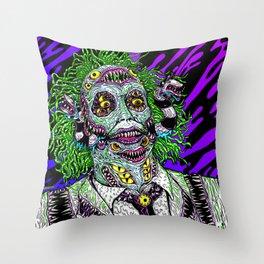 Monster Ghost Throw Pillow