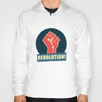 revolution Hoodies featuring REVOLUTION! by Word Quirk