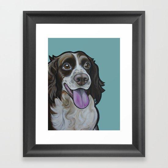 Bea the Springer Spaniel Framed Art Print