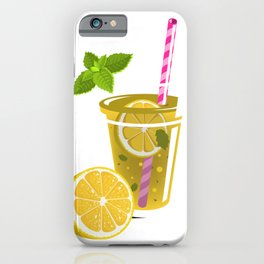 Funny Retro Vintage Cute Lemon Love iPhone Case