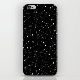 Constellations (Black) iPhone Skin