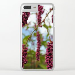 Magenta Skies Clear iPhone Case