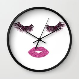 Makeup illustration Wall Clock