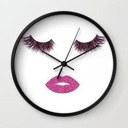 Makeup illustration Wall Clock