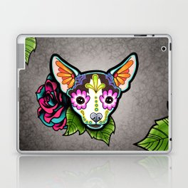 Chihuahua in Moo - Day of the Dead Sugar Skull Dog Laptop & iPad Skin