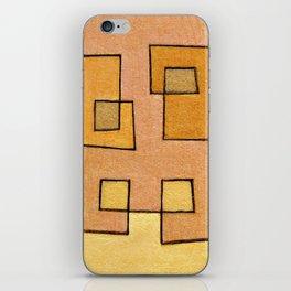 Protoglifo 04 'yellow hugging pink' iPhone Skin