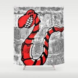 Mr. Worm Graffiti Shower Curtain