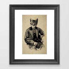 The Fancy Feline Framed Art Print