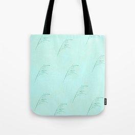 Aqua Leaf pattern Tote Bag