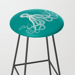 Octopus | Teal and White Bar Stool