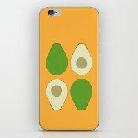 avocado iPhone & iPod Skins featuring Avocado by Silja Rouvinen