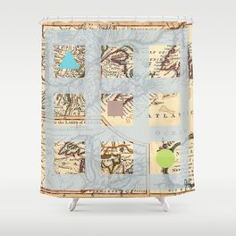 Tick Tack Boat Shower Curtain