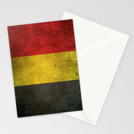 Old and Worn Distressed Vintage Flag of Belgium Stationery Cards