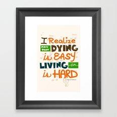 IF I STAY: I Realise Framed Art Print