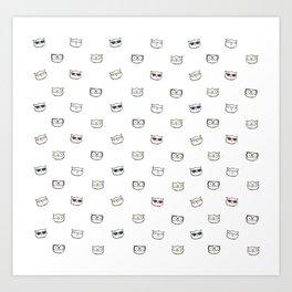 Hipster Kitties Art Print
