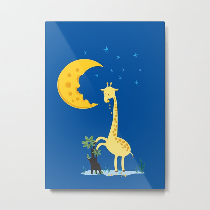 The Delicious Moon Cheese Metal Print