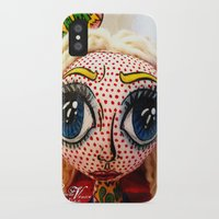 supergirl iPhone & iPod Cases featuring Supergirl by Chiara Venice Art Dolls