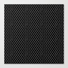 Chicken Wire Black Canvas Print