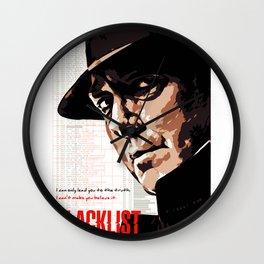 Red Reddington Fan art Poster Wall Clock