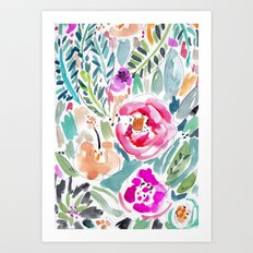 Walk in the Park Floral Art Print