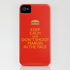 Don't shoot marvin in the face iPhone (4, 4s) Slim Case