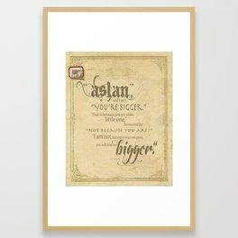 Aslan and Lucy Framed Art Print