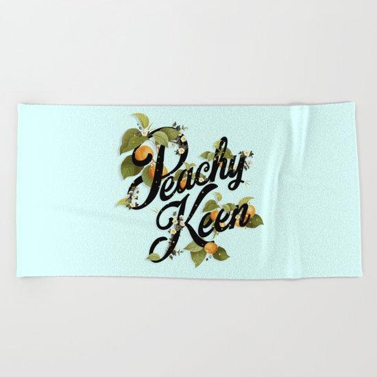 Peachy Keen : Mint Beach Towel