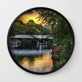 Above The Toll Bridge At Pangbourne Wall Clock