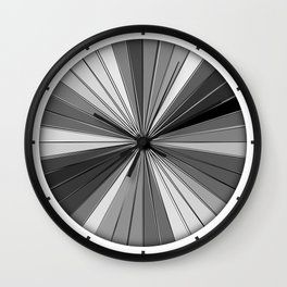 Color Burst IV (Black and White // Gray Scale) Wall Clock