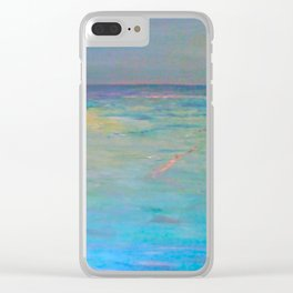 Swimming with friends Clear iPhone Case