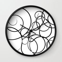 Motif Abstrait Lignes Wall Clock