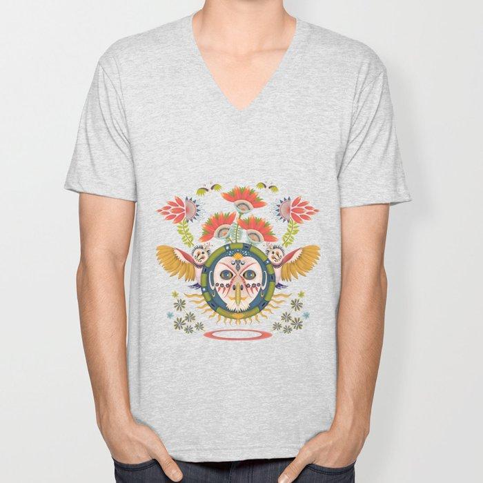 Inca Owl Unisex V-Neck
