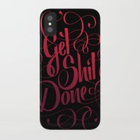 get shit done iPhone & iPod Cases featuring Get Shit Done by Marie Zieger