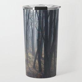 Fog Autumn forest Travel Mug