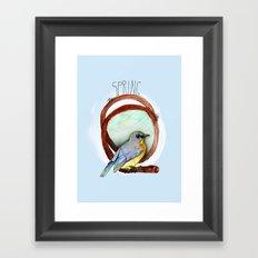 Spring birdy / Nr. 2 Framed Art Print