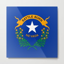 Nevada State Flag Metal Print