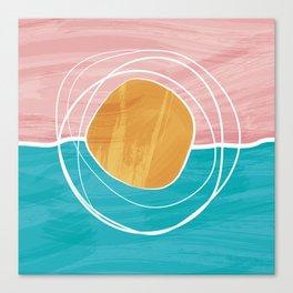 Abstract - Sun Sea Canvas Print
